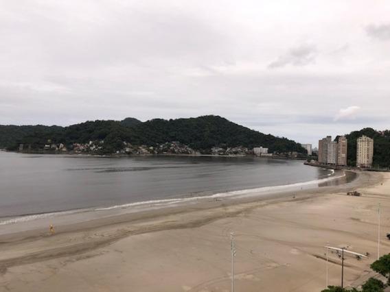 Excelente Oportunidade!!! Apartamento Em São Vicente De Frente Para Praia, De 03 Dormitórios (sendo 2 Quartos E A Sala De Frente Para O Mar) - Ap00697 - 34855199