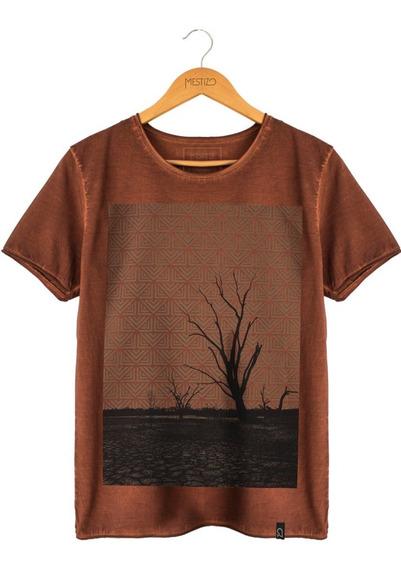 Camiseta Masculina Básica Cerrado Algodão Orgânico