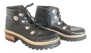 Zapatos Botas De Cuero De Mujer Daniel Valdez