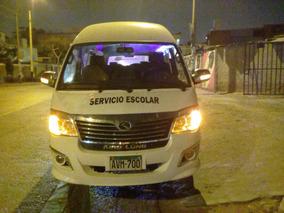 Minibus King Long 2017. Diesel, Techo Alto, 15 Pasajeros.