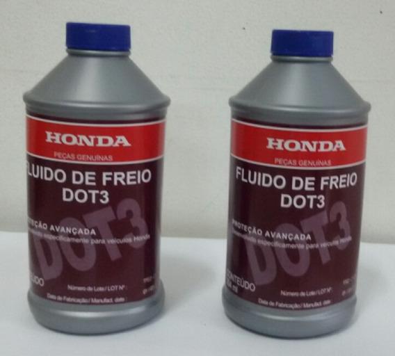 2 Oleo Fluido Freio Original Honda Dot 3