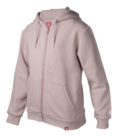 Campera New Balance Essentials Brushed Rosa Niña