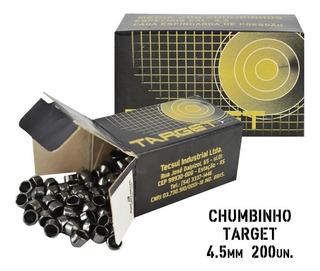 Chumbinho Munição Carabina De Pressão Target 4.5mm 200un.