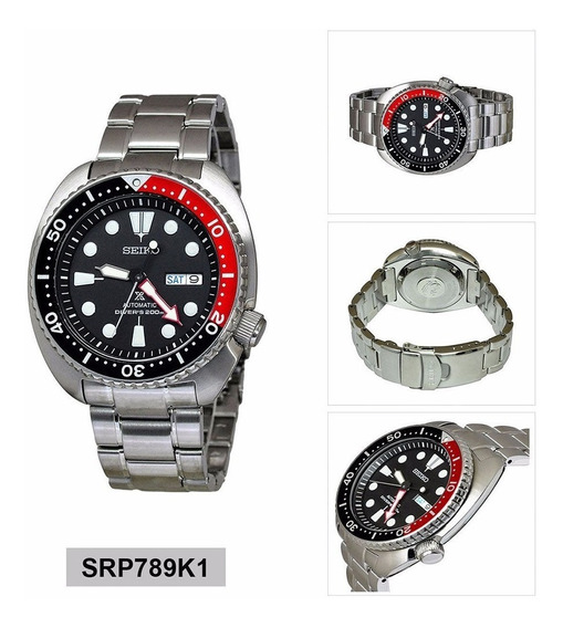 Seiko Prospex Turtle Coke Srp789 Srp789k1 Menor Preco Do Ml