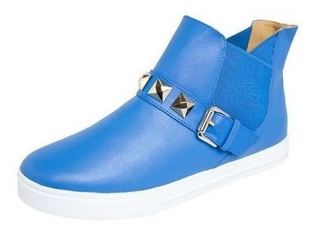 Tênis Bota Botinha Casual Petite Jolie Azul