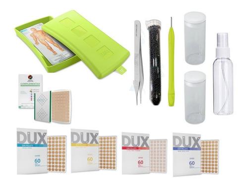 Imagem 1 de 6 de Kit Acupuntura Auriculoterapia Completo Dux 12 Peças