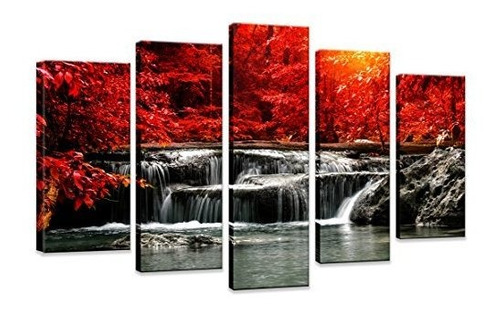 Hua Dao Art-hj-0313 Juego De 5 Pinturas Sobre Lienzo Para C