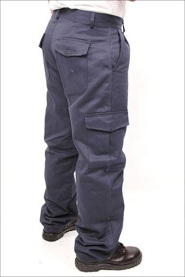 Pantalón De Trabajo Cargo Rufer Azul Marino Talles 38al48