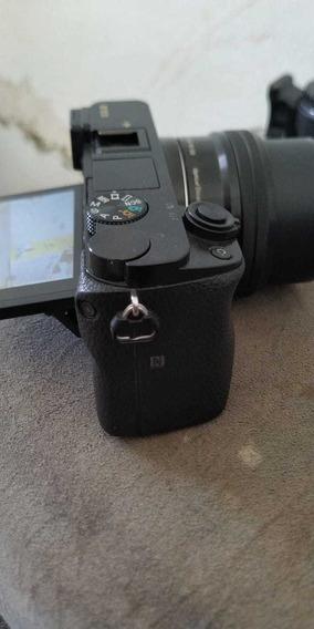 Sony A6000 Usada Completa Lente E Duas Baterias Carregadore