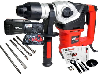 Rotomartillo Demoledor 1800w 7 Joules + Maletin + Mechas Sds