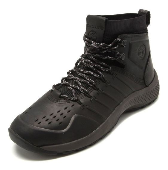 Tênis Timberland Trail Mid Leather Hiker Blackout 42