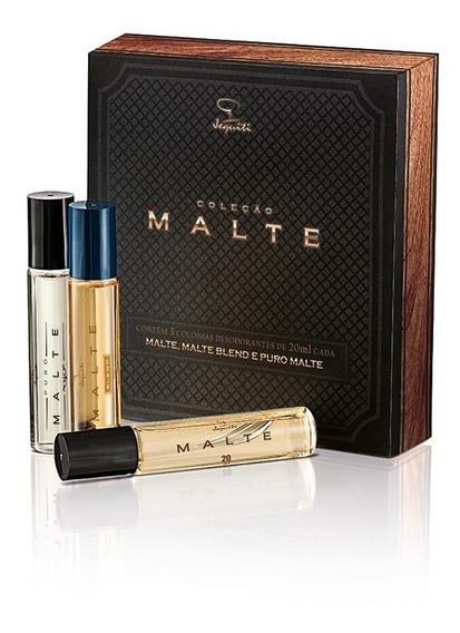 Perfume Jequiti Malte 3 Fragrâncias Coleção Edt Total 60ml