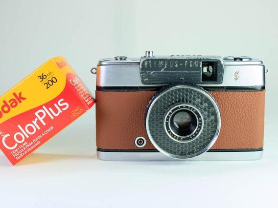 Câmera (revisada) Olympus Pen Ee + Filme Kodak