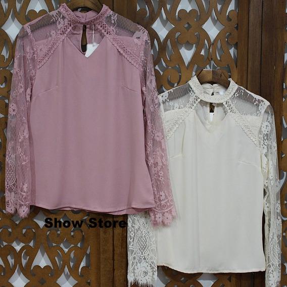Blusa Tule Trabalhada Camisetas Blusas Femininas 2511