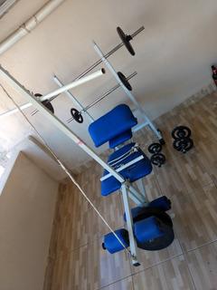 Aparelho Para Musculação Completo 115kgs De Anilhas