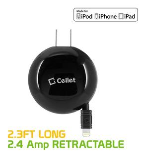 Cellet Retráctil Cargador De Casa Para iPhone X, 8, 8plu