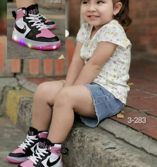 Zapatos Niñas Y Niños 25 Verdes De Luces Led