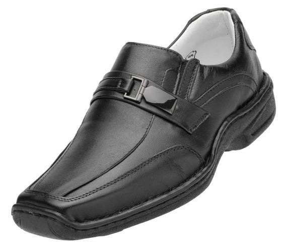 Sapato Social Em Couro Sem Cadarço Esporão Diabete