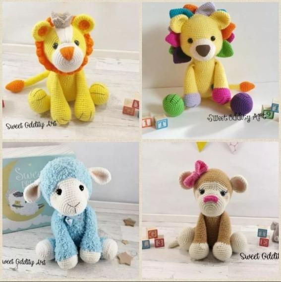 Pack 80 Patrones Animales Amigurumis Muñecos Crochet Ingles