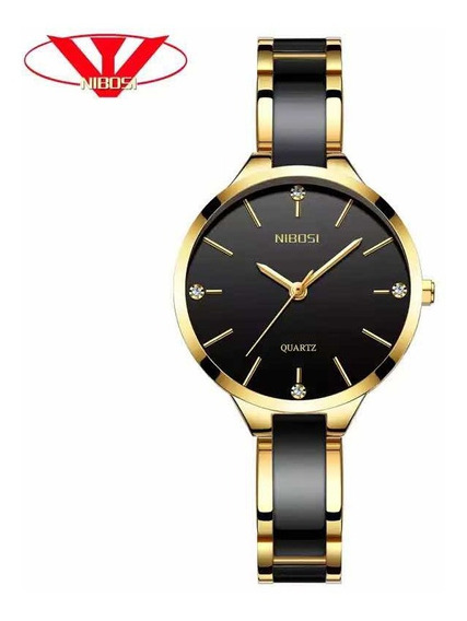 Relógio Feminino Nibosi Luxo