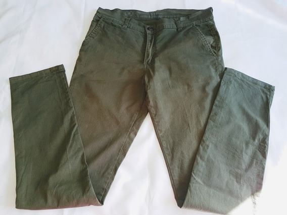 Pantalon Chino Hombre T. 30 Color Verde Militar
