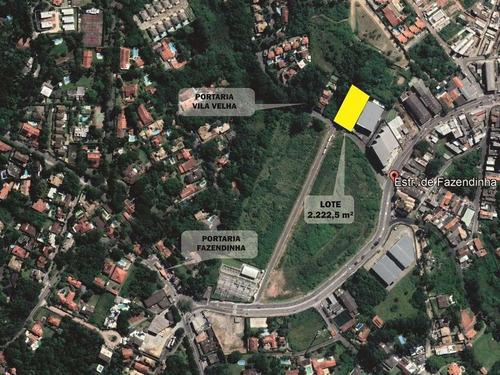 Terreno À Venda Para Predio Ou Galpão, 2222 M² Por R$ 1.650.000,00 - Jardim Ana Estela - Carapicuíba/sp - Te0546