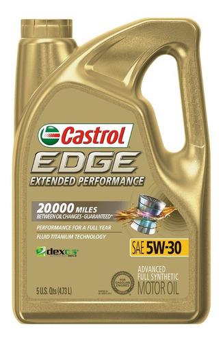 Imagen 1 de 6 de Castrol 5w30 Aceite 100% Sintetico Garrafa 4.73 Litros