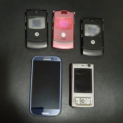 Lote Celulares Retirar Peças Samsung S3 Nokia N95 V3 Reparo