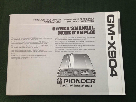 Manual Módulo Pioneer Gmx904