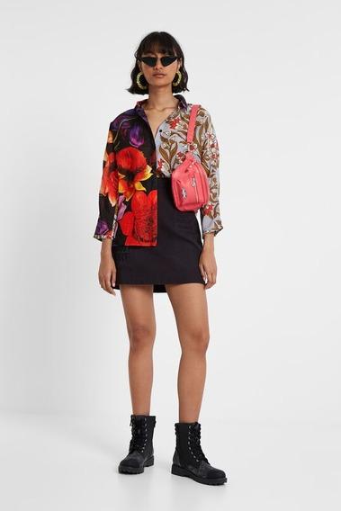 Blusa Asimétrica Dama Textil Algodón Y Seda 19wwcw64