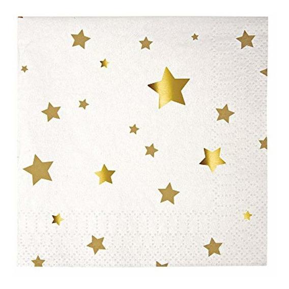 Meri Servilletas Gold Star Confetti Pequeño