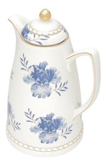 Garrafa Térmica Em Porcelana Wolff Floral 900ml 28cm