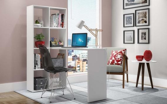Estante C/ Escrivaninha Cube - Brv Be 38-06 - Branco