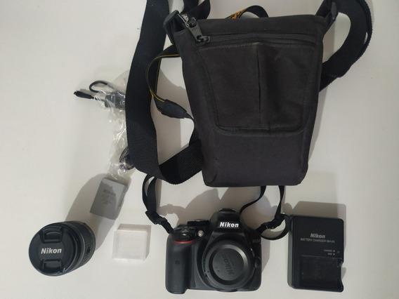 Nikon D5300 Dslr + Lente + Sd 64gb + Bolsa + Acessórios