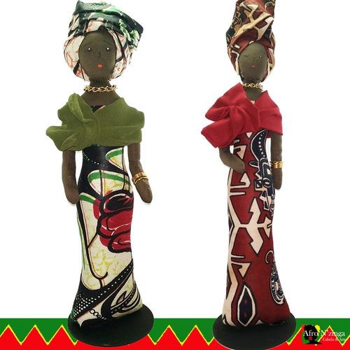 Boneca Negra De Pano - Coleção Guerreiras Nzinga