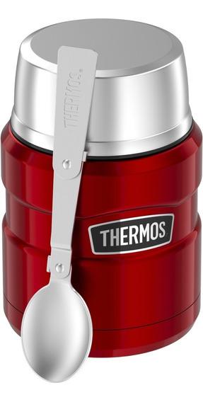 Termo Comida King Acero Inox 470 Ml Rojo - Thermos