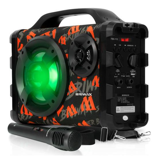 Caixa Som Portatil Bluetooth Karaokê 120w Rms Radio Fm Usb