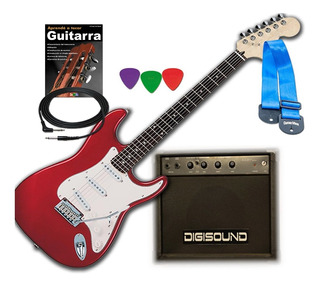 Combo Guitarra Elec Amplificador C Distorsion Funda/cor Cabl