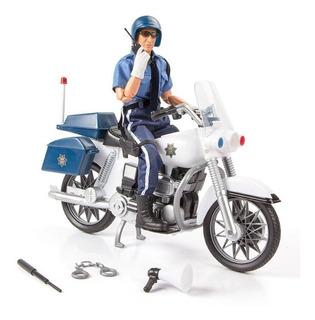 Figura De Policía Con Moto Y Accesorios