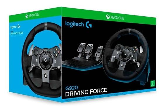 Volante Logitech G920 Xbox One E Pc Novo Pronta Entrega