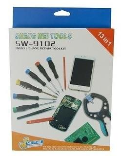 Ferramenta Para Conserto Celular Profissional 12 Pcs Sw-9102