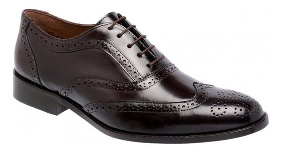Sapato Masculino Oxford Cromo Pinhão 404 - Frete Grátis