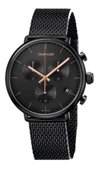 Relógio Calvin Klein Masculino Aço Preto - K8m27421