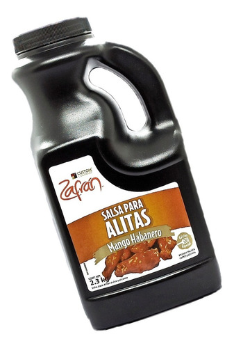Salsa Alitas Mango Habanero Zafran 10kilos Pouchs