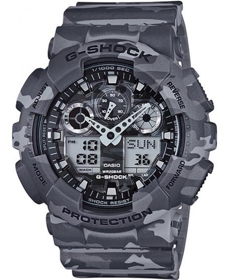 Relógio Casio G-shock Ga-100cm-8adr Camuflado Ga100 + Nfe