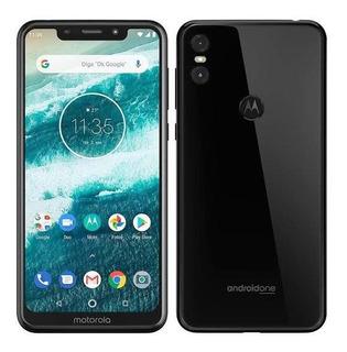 Motorola One Xt1941 Branco- Preto 64gb- 13 Mp- Tela 5.9