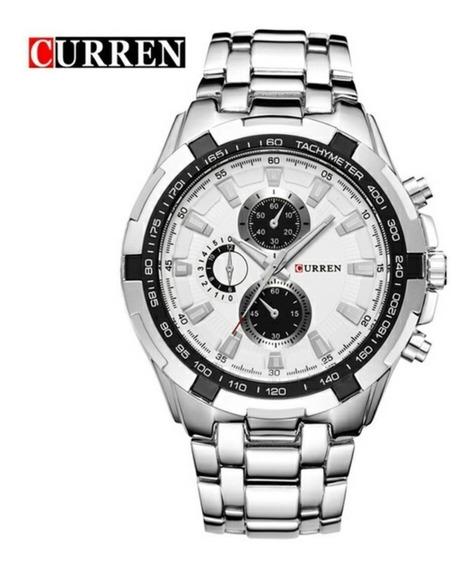 Relógio Masculino Curren Original Luxo Aço Inox Super Oferta