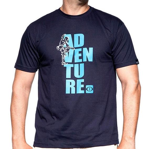 Camiseta De Algodão Adventure Azul