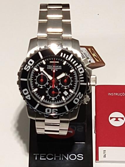 Relógio Technos Chronograph 10atm Aço Inox Os20be/1p