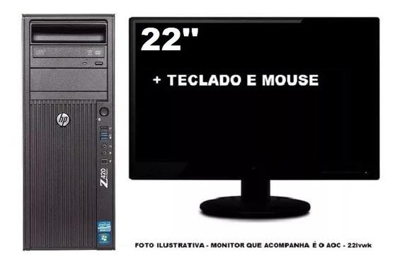 Workstation Hp Z420 Quadro K2000 Xeon 8gb 500gb - Seminovo